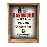 "BarnwoodUSA | Rustic Farmhouse Collectible Shadow Box Picture Frame | Made of 100% Reclaimed and Recycled Wood | Shadow Box Style to Display Collectibles, Photos, Antiques | Made in USA | 24""x36"" Review"