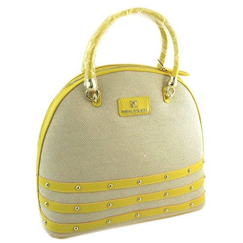 Borsa di design Ted Lapidusgiallo beige - 34x30x16 cm.