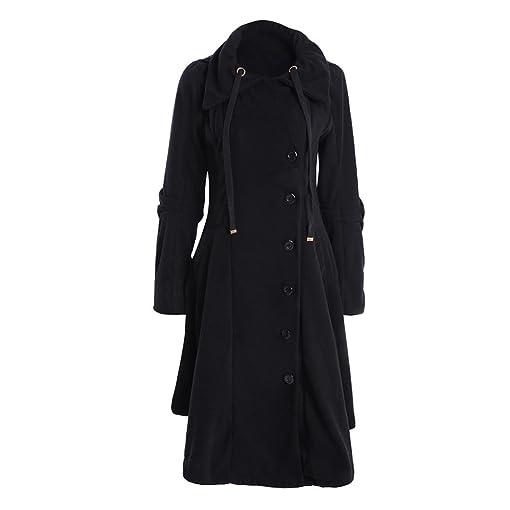 Amazon.com: Kollmert Women Fashion Button Closure Asymmetrical Winter Hoodie Long Trench Jackets: Clothing