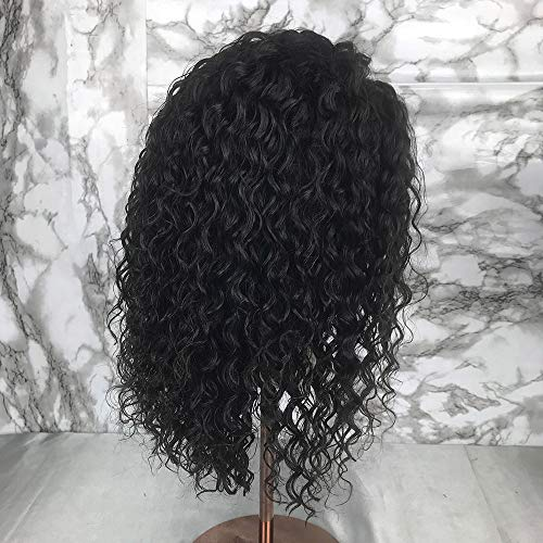 Short Full Lace Human Hair Wigs With Baby Hair For Blace Women Pre Plucked Hairline Brazilian Virgin Lace Front Human Hair Wigs 8''-16'' Loose Curly Hair Natural Color (Lace Front Wig 8) by Berimy (Image #5)