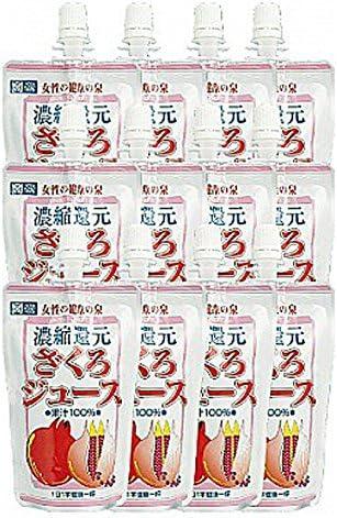野田ハニー ざくろジュース(濃縮還元) ざくろジュース100% 飲みきりパック 120g 12本セット