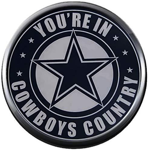 NFL Logo Dallas Cowboys You're in Cowboys Country Texas Football Fan Team Spirit 18MM - 20MM Snap Charm