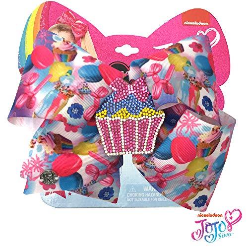 Jojo Siwa Girls Big Bows - Jojo's Sweet 16 Birthday Collection, Rhinestone Cupcake]()