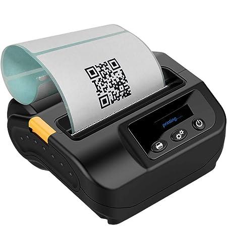 LJJY Impresoras térmica portátil Bluetooth 80MM Impresora ...