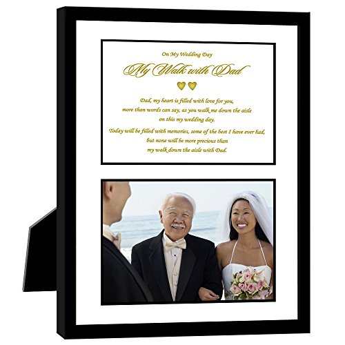 Wedding Gift for Father, My Walk with Dad, Poem From Daughter - Add Photo
