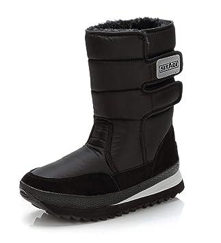 Botines de Nieve Hombre Mujer Botas Altas Invierno Zapatos