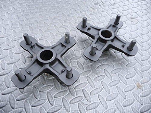 2 x YAMAHA Banshee Raptor YFZ450 REAR axle hubs left right back BLACK 1987-2006 ()