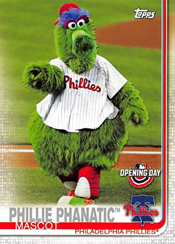 Phillies Mlb Trading Card - 2019 Topps Opening Day Mascots Baseball #M-21 Phillie Phanatic Philadelphia Phillies Official MLB Trading Card