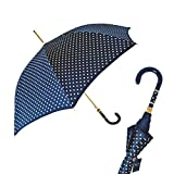 Pasotti Polka Dot Navy Umbrella