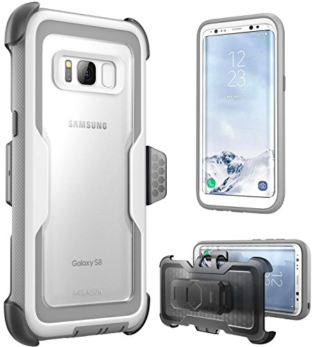 i-Blason Galaxy S8 Case, [Armorbox] [Full Body] [Heavy Duty Protection ] Shock Reduction/Bumper Case Without Screen Protector for Samsung Galaxy S8 2017 Release (White)