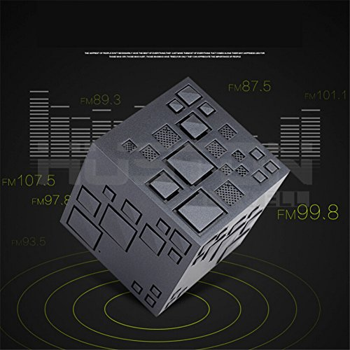 Price comparison product image Wonderpark - 4.0 Mini Wireless Portable Cube Bluetooth Speaker with LED Light - Color Changing Nightlight - Hi-Fi Music Player with Microphone - Surround Sound Hands-free - Support TF Card (Black)