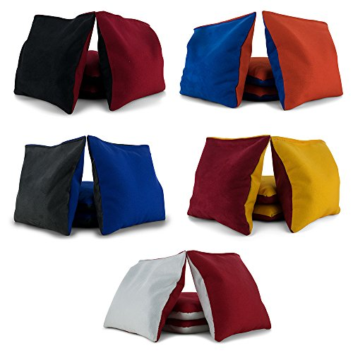 Tailor Spot Pro All Weather Cornhole Bags Dual Sided - Stop & Go - Slick n Stick Resin Filled Bean Bag (Custom)