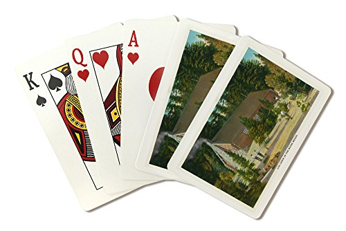 Maine - View of a Log Cabin in the Maine Woods (Playing Card Deck - 52 Card Poker Size with Jokers)