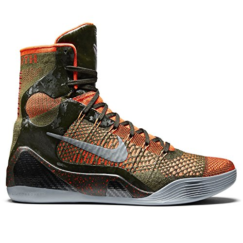 Kobe IX 9 Elite 'Strategy'  Sequoia/Green/Silver Men's Basketball Shoes - NIKE 630847-303