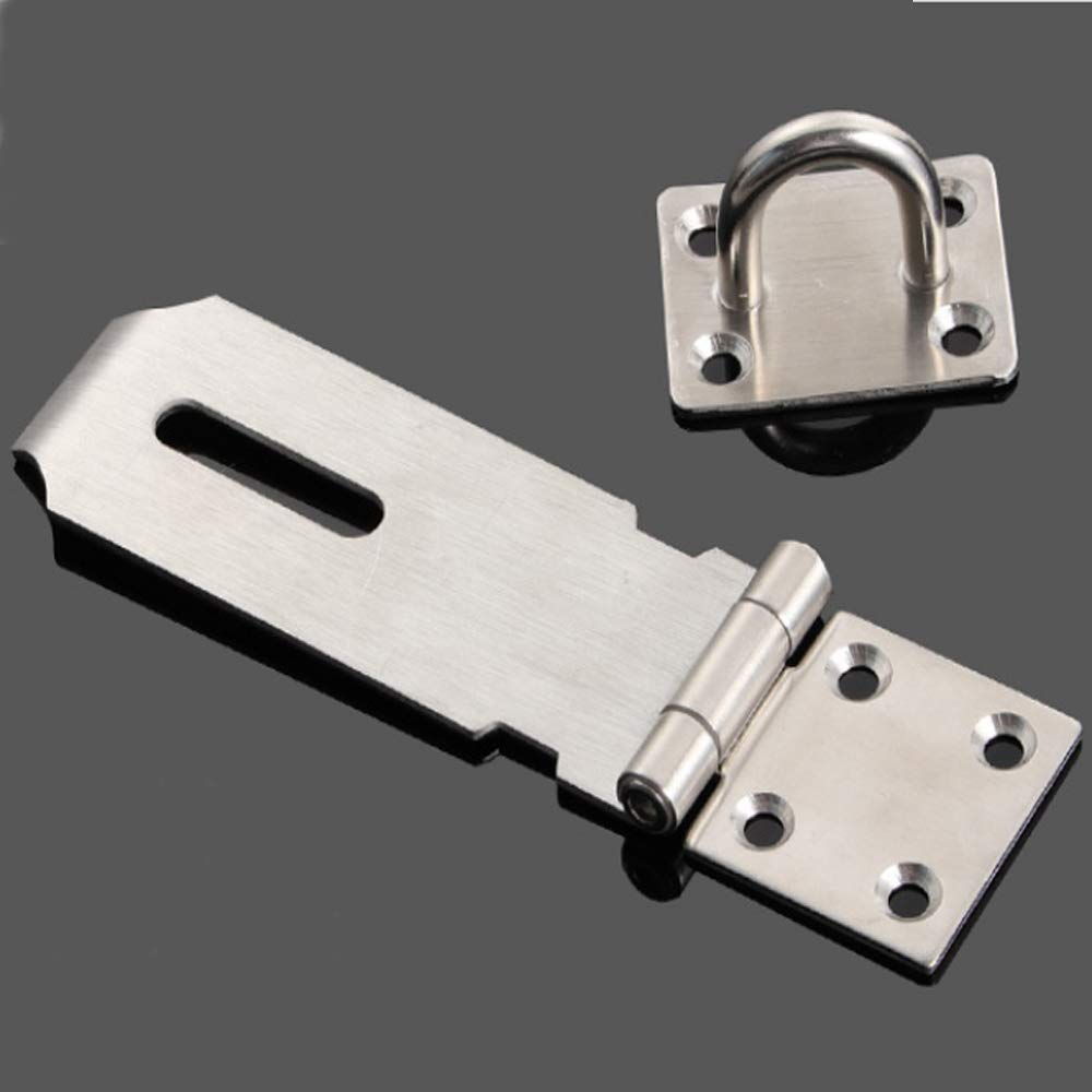 JUN-H 4 Cerrojo puerta bloqueo Cerradura de la Puerta Hebilla 304 acero inoxidable Con tornillos,para muebles,gabinete,caj/ón,armario