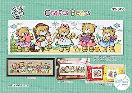 Amazon.com: Crafts Bears SO-G150 - Tabla de punto de cruz ...