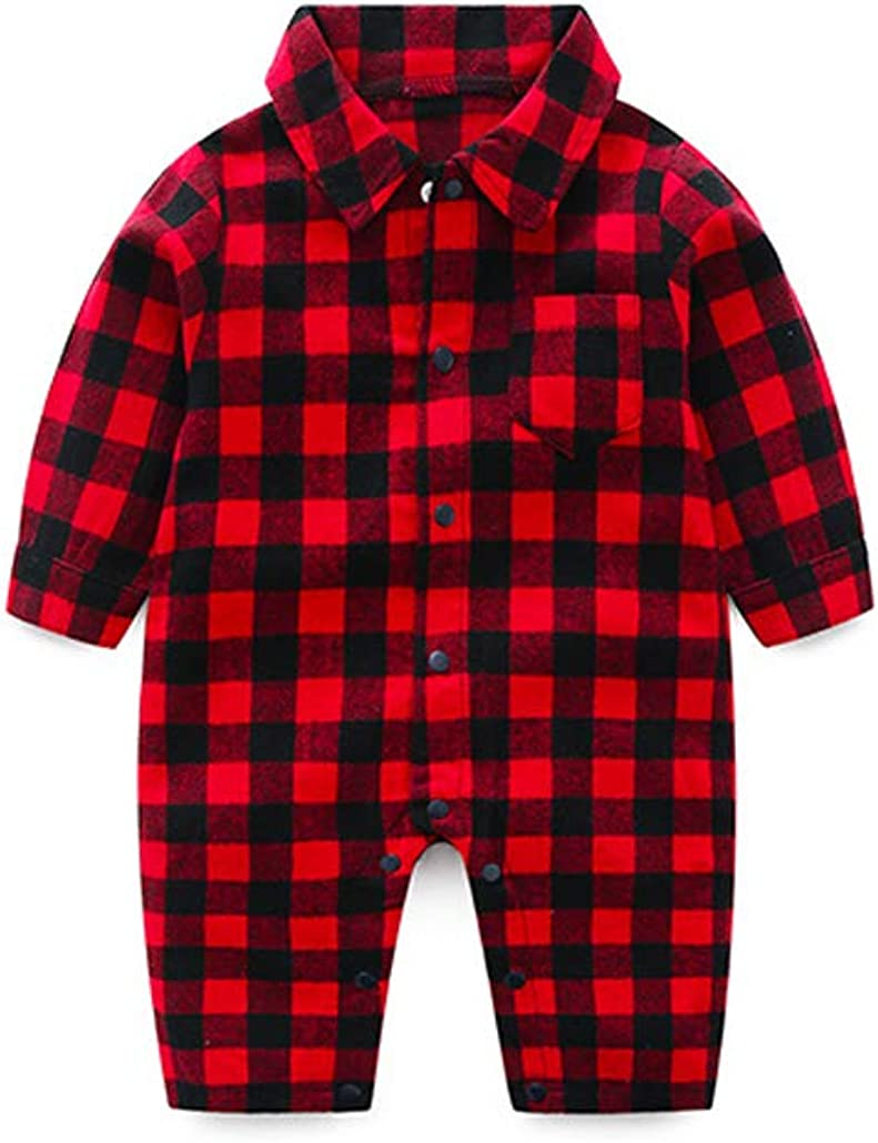 Fairy Baby Newborn Gentleman Checked Romper Baby Boys Plaid One-Piece Outfit