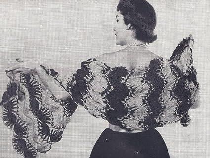 Amazon Vintage Crochet Pattern To Make Hairpin Lace Shawl