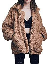 Women's Casual Warm Faux Shearling Coat Jacket Autumn...