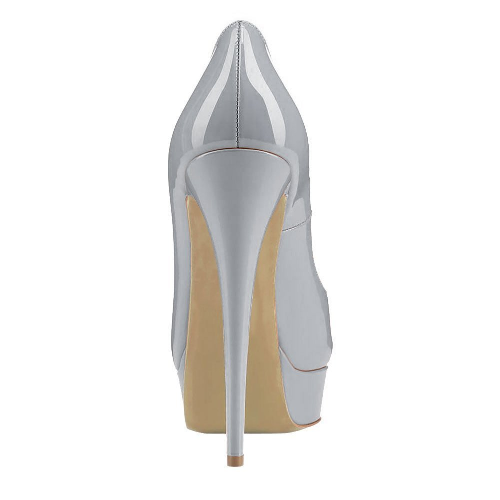 Caitlin Pan Womens Peep Toe High Pumps Platform Stiletto Sandals High Toe Heels Slip On Dress Pumps 5-14 US B07FCJVGCW 10 M US|Grey/Red B0tt0m e3b97c