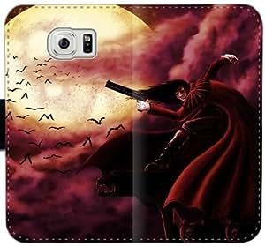Caja del cuero de Hellsing Y5I5P Funda Samsung Galaxy S6 Edge Plus funda 4G60OF funda caso del tirón del teléfono personalizado único