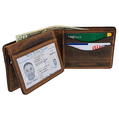 Used, Hanks Belts Deluxe Bison Bifold Wallet With ID Window for sale  Delivered anywhere in USA