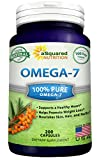Purified Omega 7 Fatty Acids – 200 Capsules – Natural Sea Buckthorn Oil, XL Vitamin Supplement, No Fish Burp, Omega-7 Palmitoleic Acid, Compare to Omega 3 6 9 for Complete Weight Loss Results!