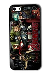 Tomhousomick Custom Design The Avengers Spider-Man Captain America The Hulk Thor Ant-Man Black Widow Iron Man Case Cover For iPhone 5/5s 2015 Hot Fashion Style