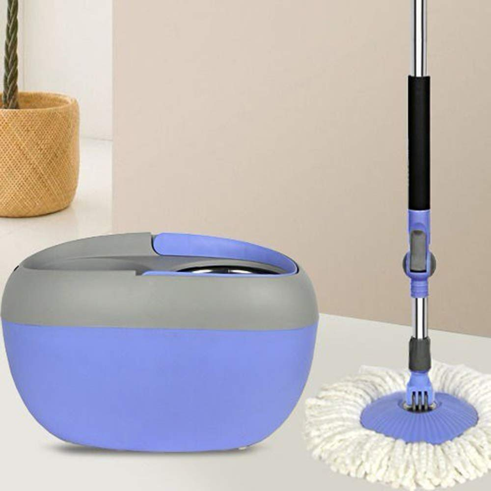 Household Single Drive Plastic Barrel Rotary Mop Automatic Mop Bucket Free Hand Wash Mop Wet and Dry by Bycws (Image #2)