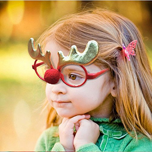 Costumes Accessories Cheap (gerba Christmas Party Favor Decoration Funny Glasses Frame for Kids Adults-Party Supplies (Antlers))