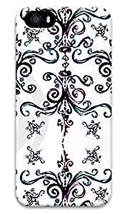 CaseandHome Simple Swirl Pattern Design Hard Case for iphone 5/5s