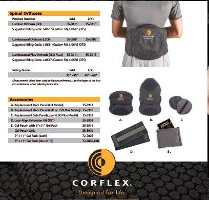 Corflex Lace Align Lumbar Orthosis (LO) - Small/Medium by Corflex (Image #3)