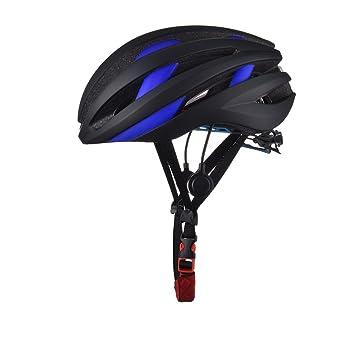 GWJ Bicicleta Casco Incorporado Micrófono Altavoz Bluetooth LED Taillight Carretera Bicicleta De Montaña Casco Adulto Hombres