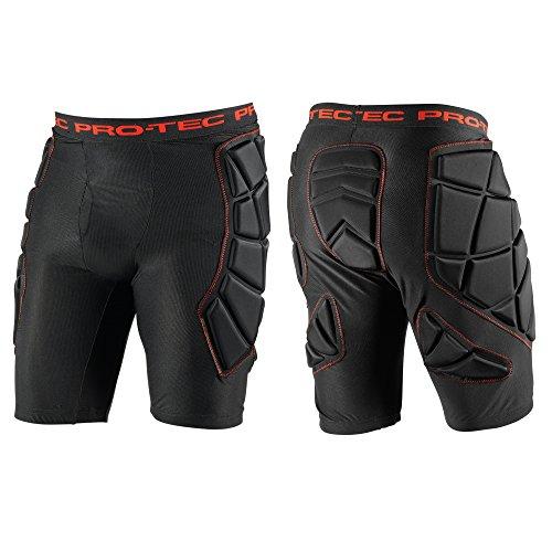 PROTEC Original Pro-tec Men's Hip Pad, Snow Black, X-Large