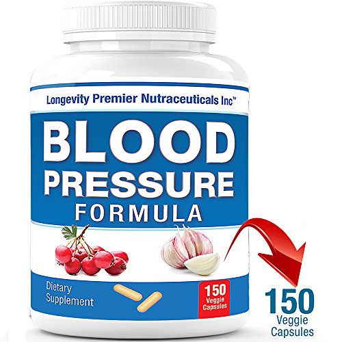 Longevity Blood Pressure Formula [150 Capsules] – Clinically Formulated with 15+ Natural Herbs. Best Blood Pressure Supplement