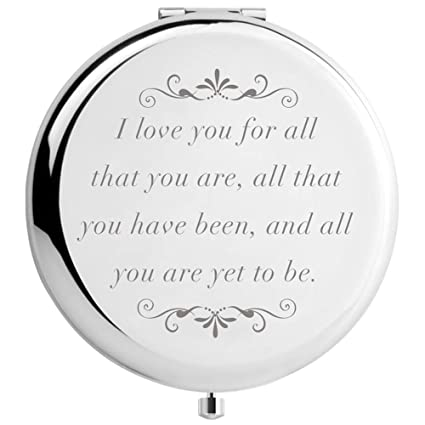 DIDADIC Birthday Gifts for Women Wife Girlfriend, Unique Gift Ideas for  Mothers Day Anniversary Valentines, Engraved for Her (Love You for All)