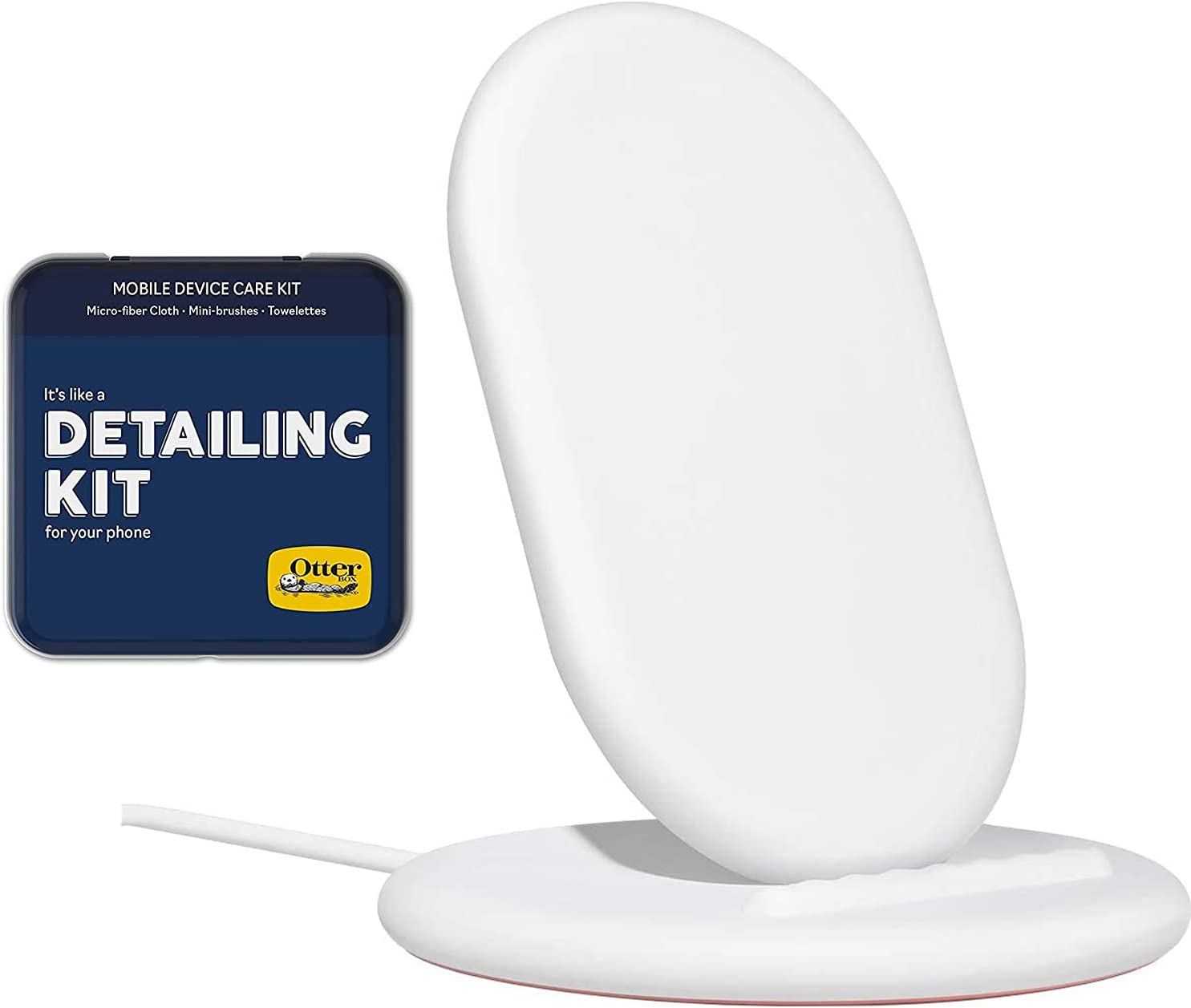 Google Pixel Stand Fast Wireless Charger - Pixel Stand for Pixel 5, Pixel 4, Pixel 4XL, Pixel 3 and Pixel 3XL w/Detail Cleaning Kit for Phone (Micro Fiber Cloth, Mini Brushes, Towelettes) - Bundle