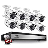 ZOSI 16 Channel 1080p Security System,16 Channel DVR 4TB (Hard Drive) Full HD