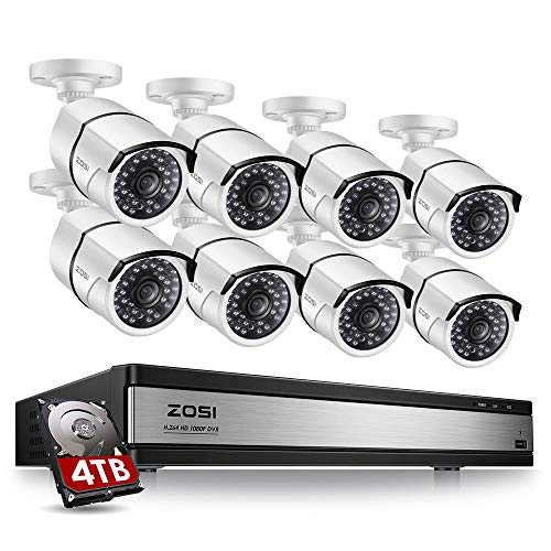 ZOSI 16 Channel 1080p Security System,16 Channel DVR 4TB (Hard