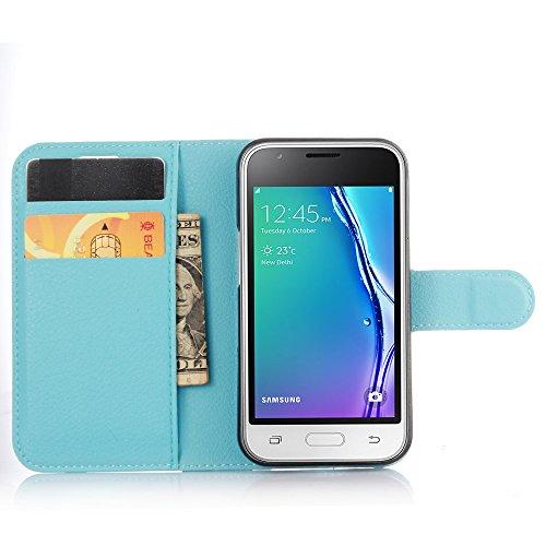 Funda Samsung Galaxy J1 mini(model 2016),Manyip Caja del teléfono del cuero,Protector de Pantalla de Slim Case Estilo Billetera con Ranuras para Tarjetas, Soporte Plegable, Cierre Magnético(JFC10-5) I