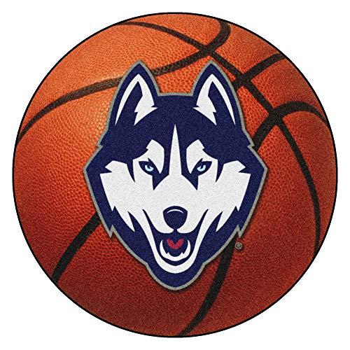 (FANMATS NCAA University of Connecticut  Huskies Nylon Face Basketball Rug)