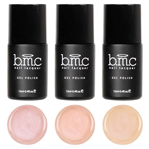 BMC 3pc Cream Finished Nude Colored Gel Lacquer Polishes - Au Naturel Collection - Lacquer Finished