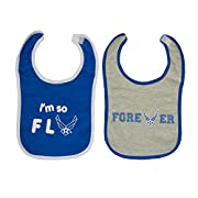 TC Baby Boys U.S. Air Force I'm So Fly Baby Bibs 2 pk