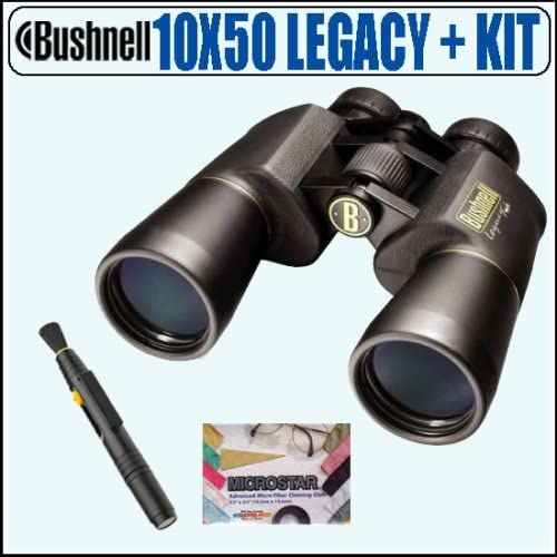 Bushnell 12-0150 10X50 Legacy WP Wide Angle Binoculars Accessory Package – Bushnell ABUS10X50LYNK1