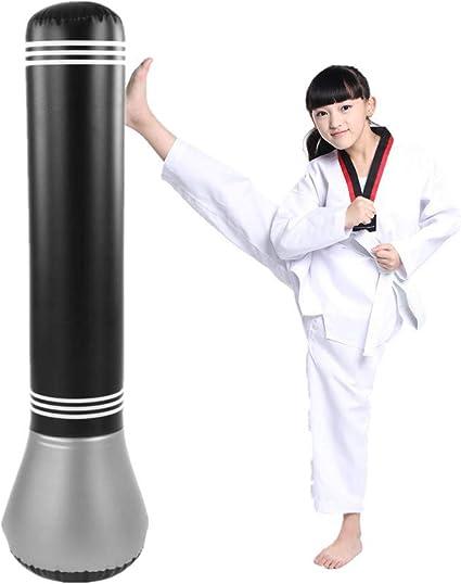Tbest Sac de Boxe autoportante Enfant Sac de poin/çonnage Gonflable Lourd de Punching Stand Cible Punching Kick Training Enfant Adulte