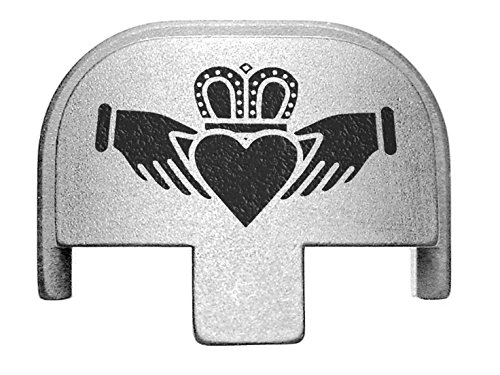 NDZ Performance Rear Slide Cover Plate for Smith & Wesson Self Defense S&W SD9 SD40 VE 9mm .40 Silver Custom Laser Engraved Image: Scottish Claddagh