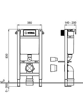 Höhe Wc wc vorwandelement wisa xt kurze bauhöhe bh 83 cm platte weiß wc