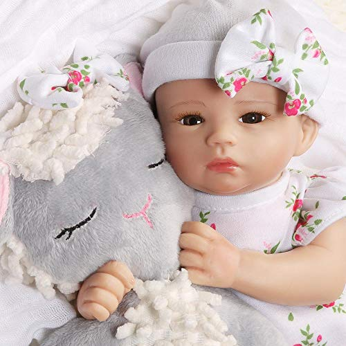 Paradise Galleries Preemie Tiny Reborn Baby Doll 12 inch - Bitsy Baby Little Lamb, Full Vinyl Arms & Legs, 4-Piece Gift Set, Safety Tested for 3+