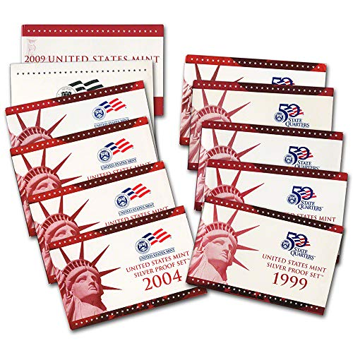 - 1999 2000 2001 2002 2003 2004 2005 2006 2007 2008 2009 United States Mint Silver Set Proof