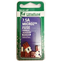 Littelfuse (MIC207.5VP) MICRO2 Brown 32V 7.5 Amp Blade Fuse, (Pack of 5)